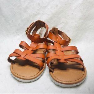 Cat & Jack Size 3 Cognac MYA Slide On Sandals